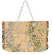 Map Depicting Plantations On The Mississippi River From Natchez To New Orleans Weekender Tote Bag