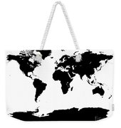 Map In Black And White Weekender Tote Bag