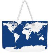 Map In Blue And White Weekender Tote Bag