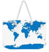 Map In Blue Weekender Tote Bag