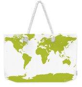 Map In Chartreuse Green Weekender Tote Bag