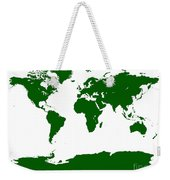 Map In Forest Green Weekender Tote Bag