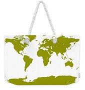 Map In Olive Green Weekender Tote Bag