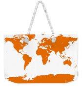 Map In Orange Weekender Tote Bag