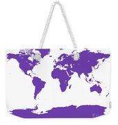 Map In Purple Weekender Tote Bag