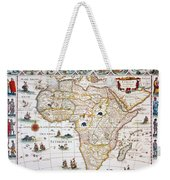 Map Of Africa, 1630 Weekender Tote Bag
