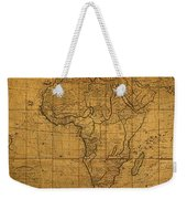 Map Of Africa Circa 1829 On Worn Canvas Weekender Tote Bag
