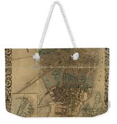 Map Of Boston 1852 Weekender Tote Bag