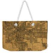 Map Of Denver Colorado City Street Railroad Schematic Cartography Circa 1903 On Worn Canvas Weekender Tote Bag