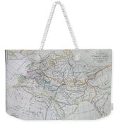 Map Of Europe In The Middle Ages Weekender Tote Bag