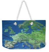 Map Of Europe Weekender Tote Bag