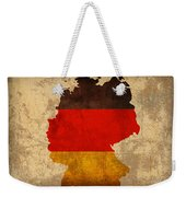 Map Of Germany With Flag Art On Distressed Worn Canvas Weekender Tote Bag