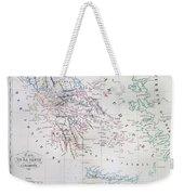 Map Of Greece Weekender Tote Bag