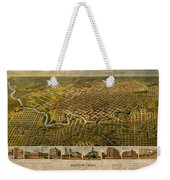 Map Of Houston Texas Circa 1891 On Worn Distressed Canvas Weekender Tote Bag