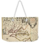 Map Of Maryland 1676 Weekender Tote Bag