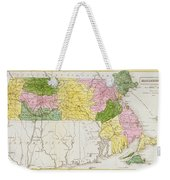 Map Of Massachusetts, From Historical Collections Of Massachusetts, By John Warren Barber, 1839 Weekender Tote Bag