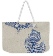 Map Of Michigan Great Lake State Fingerprint Art Weekender Tote Bag