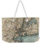 Map Of New York 1891 Weekender Tote Bag