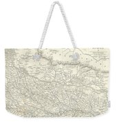 Map Of North India Nepal And Allahabad Weekender Tote Bag