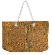 Map Of Paris France Circa 1550 On Worn Canvas Weekender Tote Bag