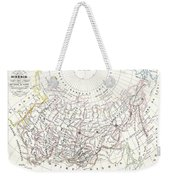 Map Of Russia In Asia And Siberia Weekender Tote Bag