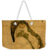 Map Of San Diego Bay California Circa 1857 On Worn Distressed Canvas Parchment Weekender Tote Bag