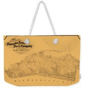 Map Of Sausalito 1868 Weekender Tote Bag