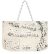 Map Of The Battle Of Trafalgar Weekender Tote Bag