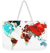 Map Of The World 5 -colorful Abstract Art Weekender Tote Bag