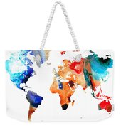 Map Of The World 8 -colorful Abstract Art Weekender Tote Bag