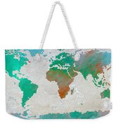 Map Of The World - Colors Of Earth And Water Weekender Tote Bag
