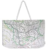 Map Of Turkey Or The Ottoman Empire In Europe Weekender Tote Bag