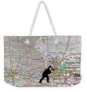 Map Overland Park Kansas Weekender Tote Bag
