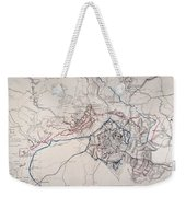 Map: Siege Of Atlanta 1864 Weekender Tote Bag