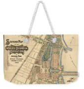 Map: Worlds Fair, 1893 Weekender Tote Bag