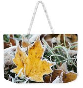Maple Frost Leaf Art Weekender Tote Bag