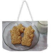 Maple Leaf Cookies And Milk - Food Art - Kitchen Weekender Tote Bag