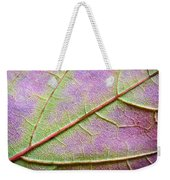 Maple Leaf Macro Weekender Tote Bag