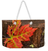 Maple Leaf On Oak Stump Weekender Tote Bag