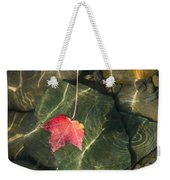 Maple Leaf On Water Weekender Tote Bag