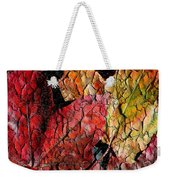 Maple Leaves Cracked Square Weekender Tote Bag