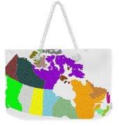Maple Leaves Map Of Canada Weekender Tote Bag