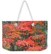 Maple Rush In The Fall Weekender Tote Bag