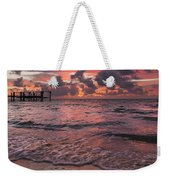 Marathon Key Sunrise Panoramic Weekender Tote Bag by Adam Romanowicz