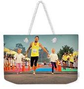 Marathon Of Happiness Weekender Tote Bag