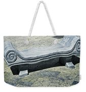 Abstract Marble Bench Weekender Tote Bag
