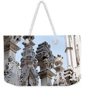 Marble Facade With Tower Duomo Di Milano Italia Weekender Tote Bag