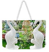 Marble Stork Sculptures In Xuat Anh-vietnam Weekender Tote Bag