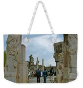Marble Way From Theater To Central Ephesus-turkey Weekender Tote Bag