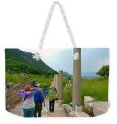Marble Way In Ephesus-turkey Weekender Tote Bag